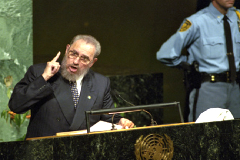 Fidel Castro en la ONU el año 2000