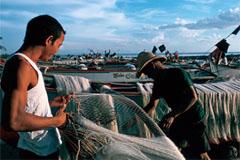 Reparador de redes de pescadores