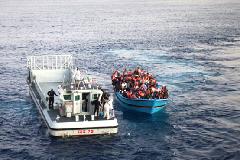 Migrantes socorridos en el Mediterráneo
