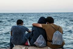 Refugiados sperando migrar