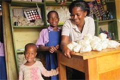 madre e hijos africanos