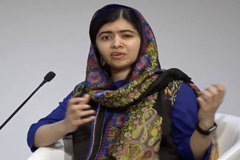 """Malala en Davos: """"No vamos a pedirles a los hombres que cambien el mundo, vamos a hacerlo nosotras mismas"""""""