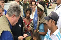 """La crisis de desplazados venezolanos """"es un desastre humanitario absoluto"""""""