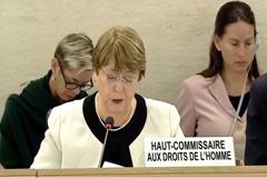 Primer Informe Anual de la Alta Comisionada de las Naciones Unidas para los Derechos Humanos Michelle Bachelet