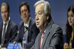 El Secretario General de la ONU insta a los jóvenes a seguir liderando la respuesta a la emergencia climática